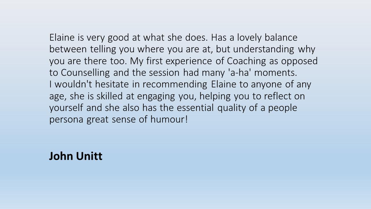 Testimonial John Unitt